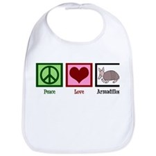 Peace Love Armadillos Bib