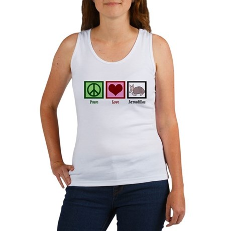 Peace Love Armadillos Women's Tank Top