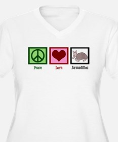 Peace Love Armadillos T-Shirt