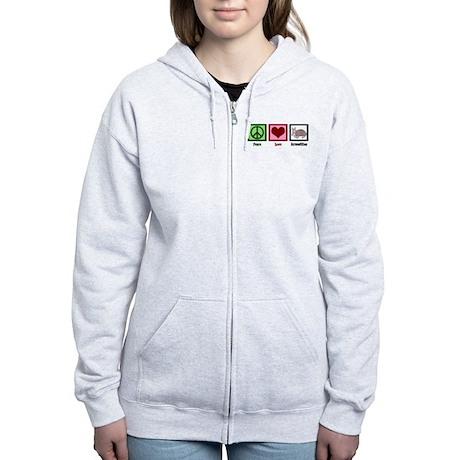 Peace Love Armadillos Women's Zip Hoodie