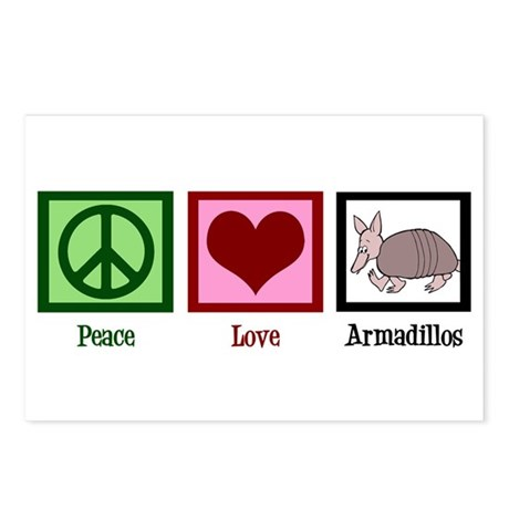Peace Love Armadillos Postcards (Package of 8)