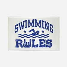 Swimming Rules Rectangle Magnet