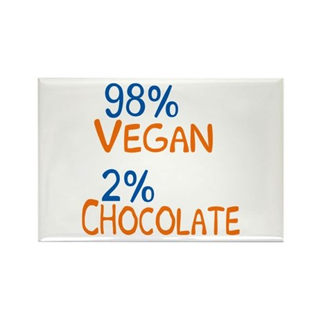 98% Vegan Rectangle Magnet