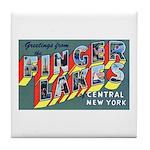 Finger Lakes New York Tile Coaster