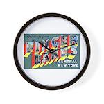 Finger Lakes New York Wall Clock