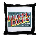 Finger Lakes New York Throw Pillow
