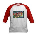 Finger Lakes New York (Front) Kids Baseball Jersey