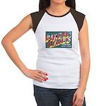 Finger Lakes New York (Front) Women's Cap Sleeve T