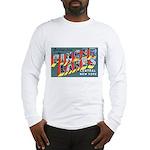 Finger Lakes New York (Front) Long Sleeve T-Shirt