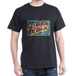 Finger Lakes New York (Front) Black T-Shirt