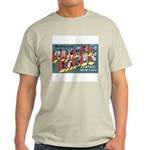 Finger Lakes New York (Front) Ash Grey T-Shirt