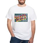 Finger Lakes New York (Front) White T-Shirt