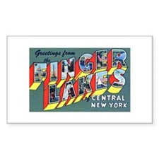 Finger Lakes New York Rectangle Decal