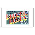 Finger Lakes New York Rectangle Sticker
