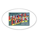 Finger Lakes New York Oval Sticker