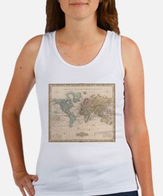 Vintage Map of The World (1823) 2 Tank Top