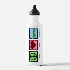 Peace Love Alligators Water Bottle