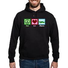Peace Love Alligators Hoodie