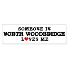 North Woodbridge: Loves Me Bumper Bumper Sticker