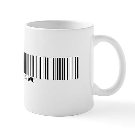 """Corporate Slave"" Bar Code Mug"