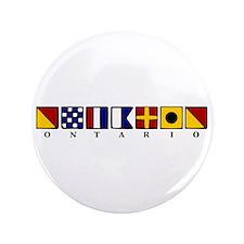 """Nautical Ontario 3.5"""" Button"""