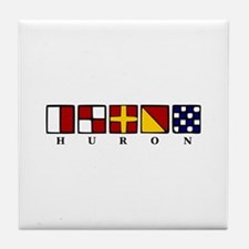 Nautical Huron Tile Coaster