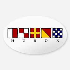 Nautical Huron Sticker (Oval)