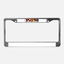 Nautical Huron License Plate Frame