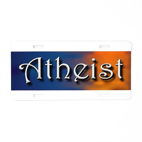 Atheist Dawning Aluminum License Plate