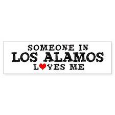Los Alamos: Loves Me Bumper Bumper Sticker