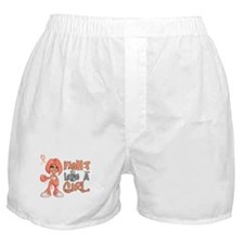 Licensed Fight Like a Girl 42.8 Uteri Boxer Shorts
