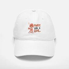 Licensed Fight Like a Girl 42.8 Uterine Cancer Baseball Baseball Cap