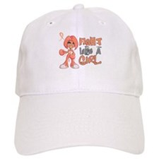 Licensed Fight Like a Girl 42.8 Uterine Cancer Baseball Cap