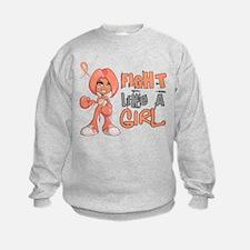 Licensed Fight Like a Girl 42.8 Ut Sweatshirt
