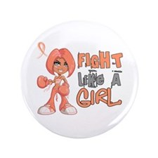"""Licensed Fight Like a Girl 42.8 Uterin 3.5"""" Button"""