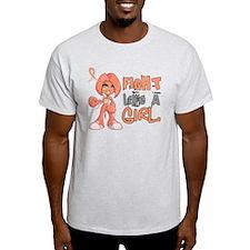 Licensed Fight Like a Girl 42.8 Uter T-Shirt