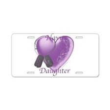 NavyDaughter Aluminum License Plate