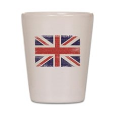 Great Britain flag vintage Shot Glass