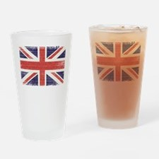 Great Britain flag vintage Drinking Glass