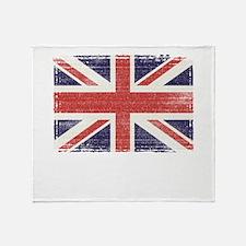 Great Britain flag vintage Throw Blanket