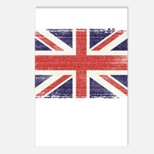 Great Britain flag vintage Postcards (Package of 8