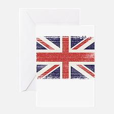 Great Britain flag vintage Greeting Card