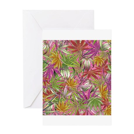 Camomoto Marijuana Fabric#1 Greeting Card