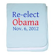 Re-elect Obama --- baby blanket