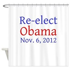 Re-elect Obama --- Shower Curtain