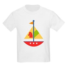 4th Birthday Sailboat T-Shirt