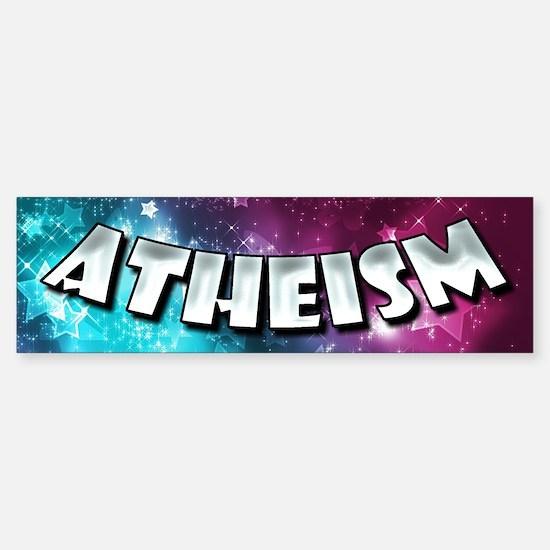 Atheism Shines Bright Sticker (Bumper)