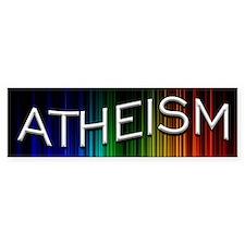 Atheism Light Waves Bumper Sticker