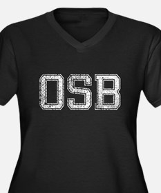 OSB, Vintage, Women's Plus Size V-Neck Dark T-Shir