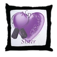 NavySister3.png Throw Pillow